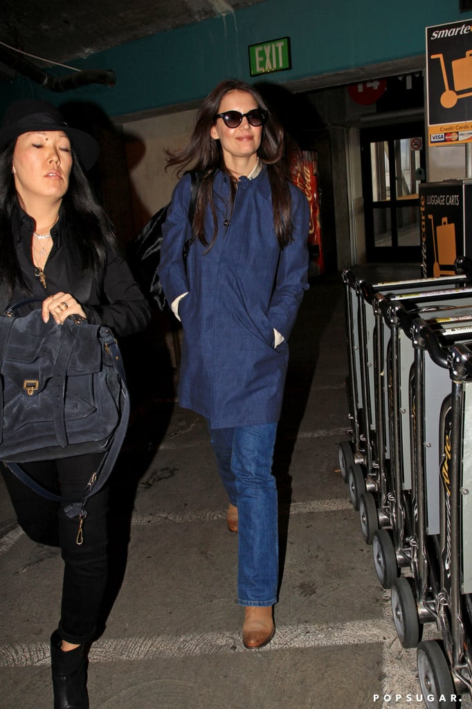 Katie Holmes and Jeanne Yang Land at LAX | Pictures