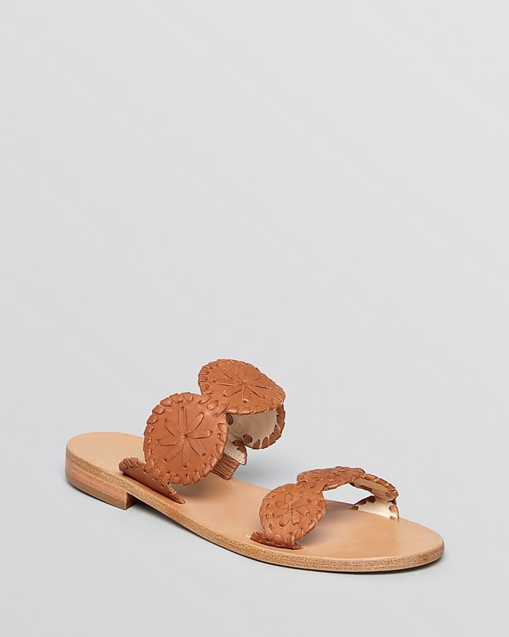 Jack Rogers Leather Slide Sandals