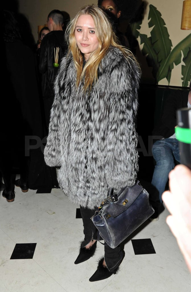 Pictures of Mary-Kate Olsen at Vladimir Restoin-Roitfeld's RETNA Art Exhibition in NYC