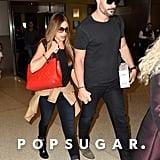 Sofia Vergara and Joe Manganiello held hands in Miami on Saturday.