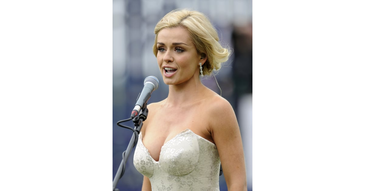 Katherine Jenkins Performed The National Anthem  Diamond Jubilee Derby Pictures -6911