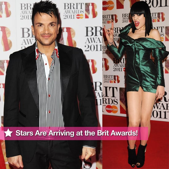 Pictures of Celebrities On the Brit Awards 2011 Red Carpet Including Peter Andre, Jessie J, Corinne Bailey Rae