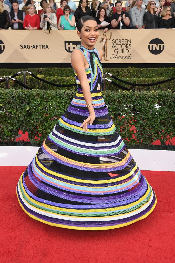 Whether It's Twirling in Her Gown at the SAG Awards . . .