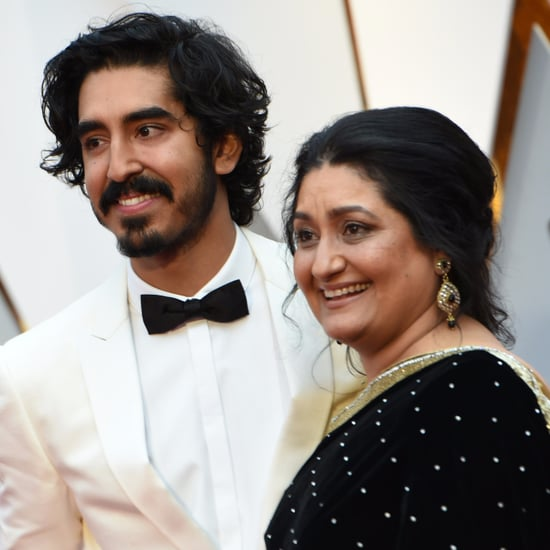Dev Patel and His Mum at the 2017 Oscars