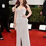 Emilia Clarke at the Golden Globes in Proenza Schouler