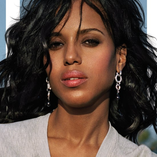 Kerry Washington in Shinola Sweatshirt in Elle April 2016