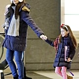 Katie Holmes and Suri Cruise walked around NYC.