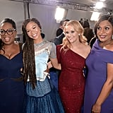 Pictured: Oprah Winfrey, Storm Reid, Reese Witherspoon, and Mindy Kaling