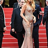 Blake Lively Bared Her Bump in Bodyhugging Versace
