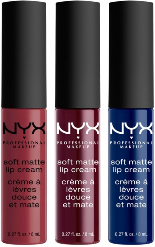NYX Soft Matte Lip Cream Set in Copenhagen, Budapest, Moscow