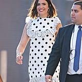 Mandy Moore's Polka-Dot Dress on Jimmy Kimmel