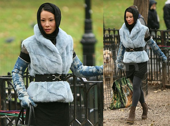 Lucy Liu Films Cashmere Mafia in New York City