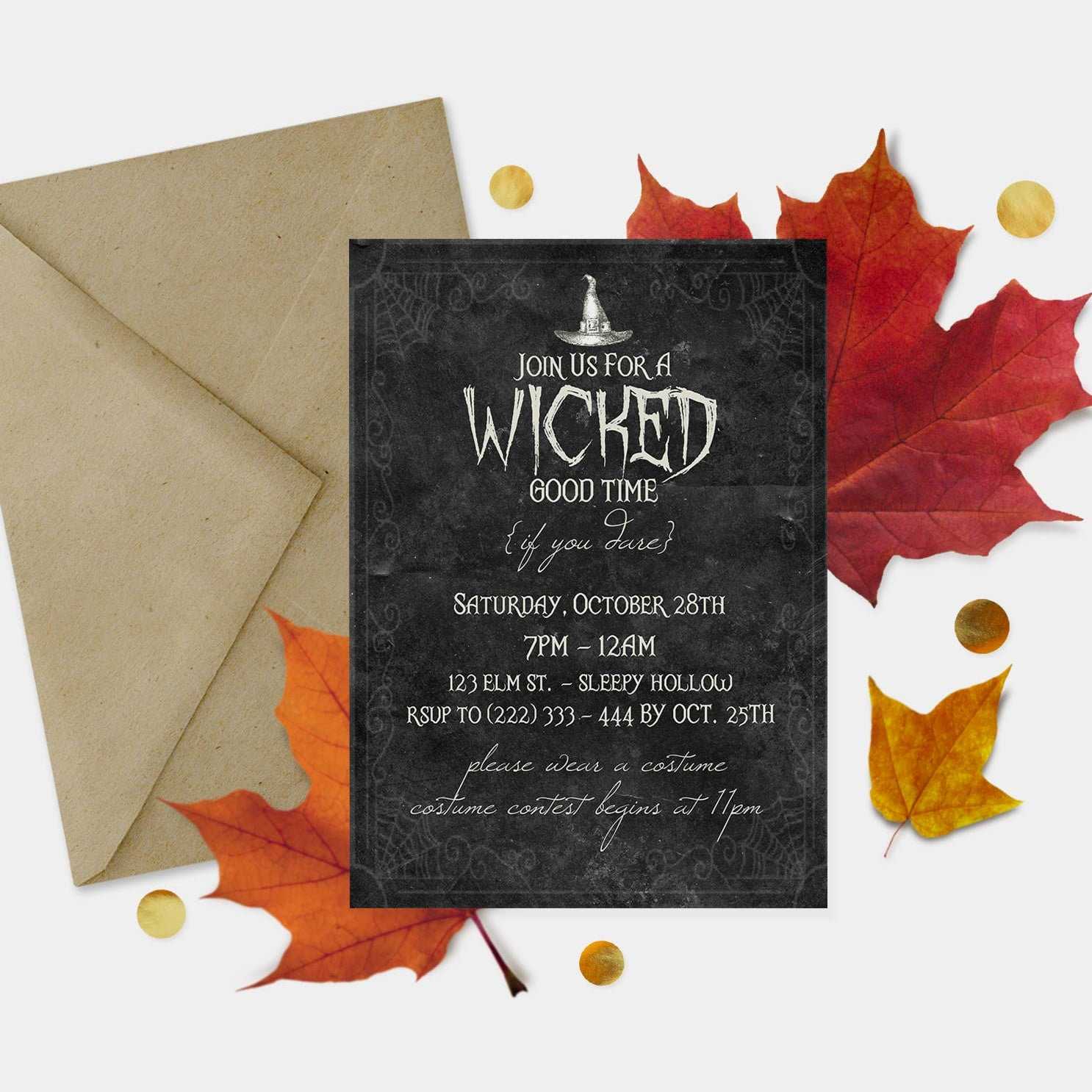 Pennywise Clown Adult Halloween Party Invitation ($8) | Printable ...