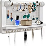 Viefin Wall-Mounted Mesh Jewelry Organizer