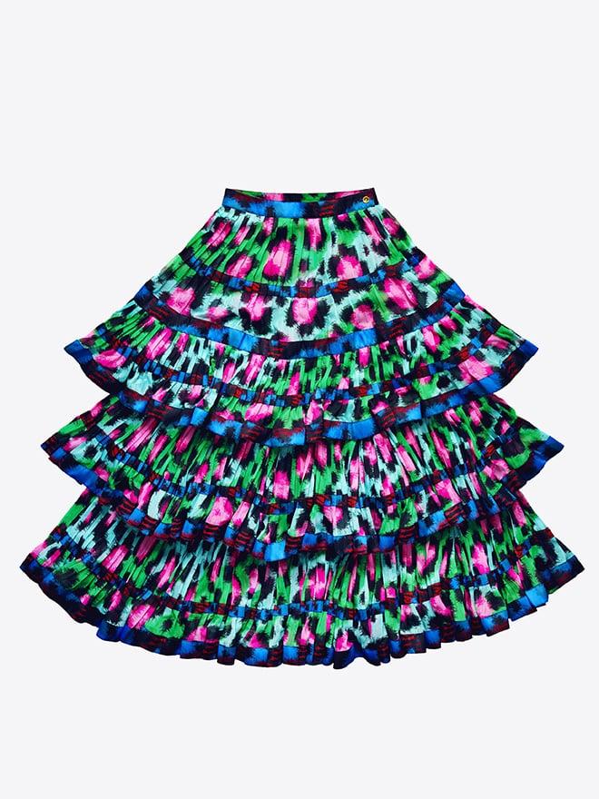 Pleated Chiffon Skirt ($179)