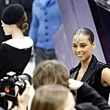Alicia Keys posed at Chanel.