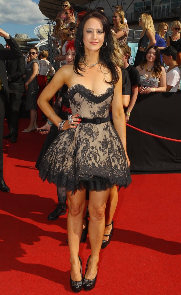 Pictures of Kylie Minogue, Dannii Minogue, Erin McNaught and Jessica Mauboy all in Black Dresses at the 2011 ARIA Awards