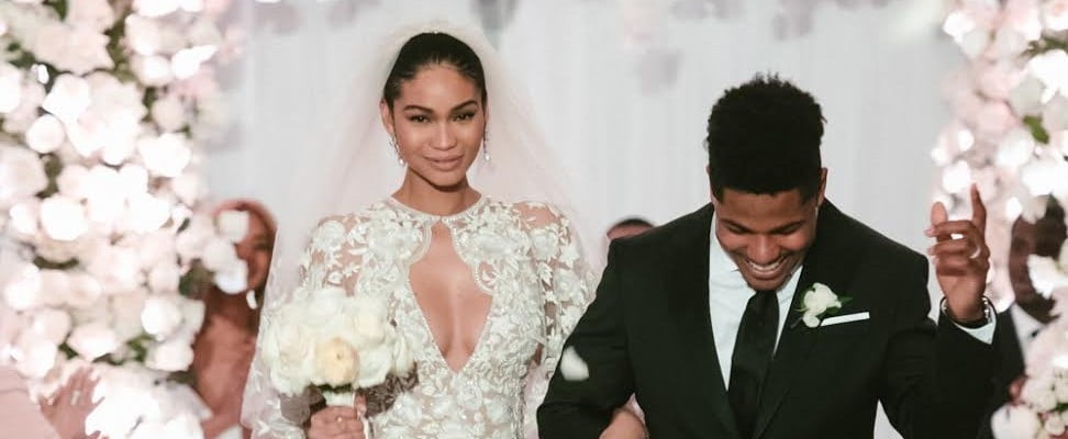 This Model's Blush Pink Wedding Dress Was Breathtaking, but Did You See Her Epic Cape?