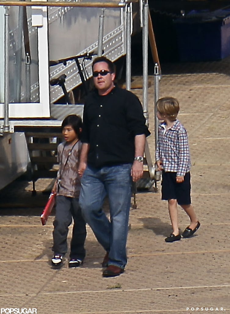 Pax Jolie-Pitt and Shiloh Jolie-Pitt were together in the UK.
