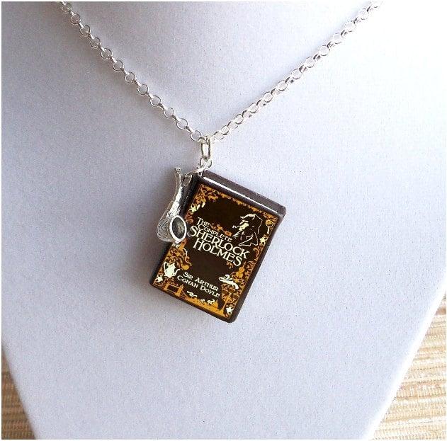 Sherlock Holmes Book Necklace