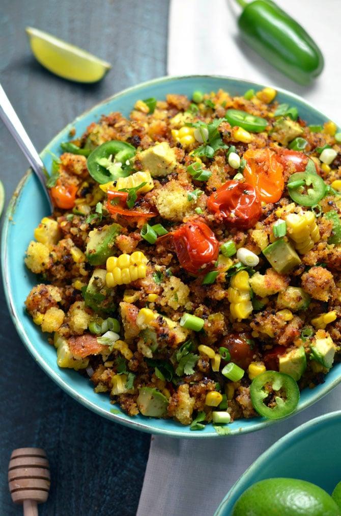 Cornbread Salad with Jalapeño-Browned Butter Vinaigrette
