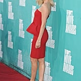 Charlize Theron turned heads in red.