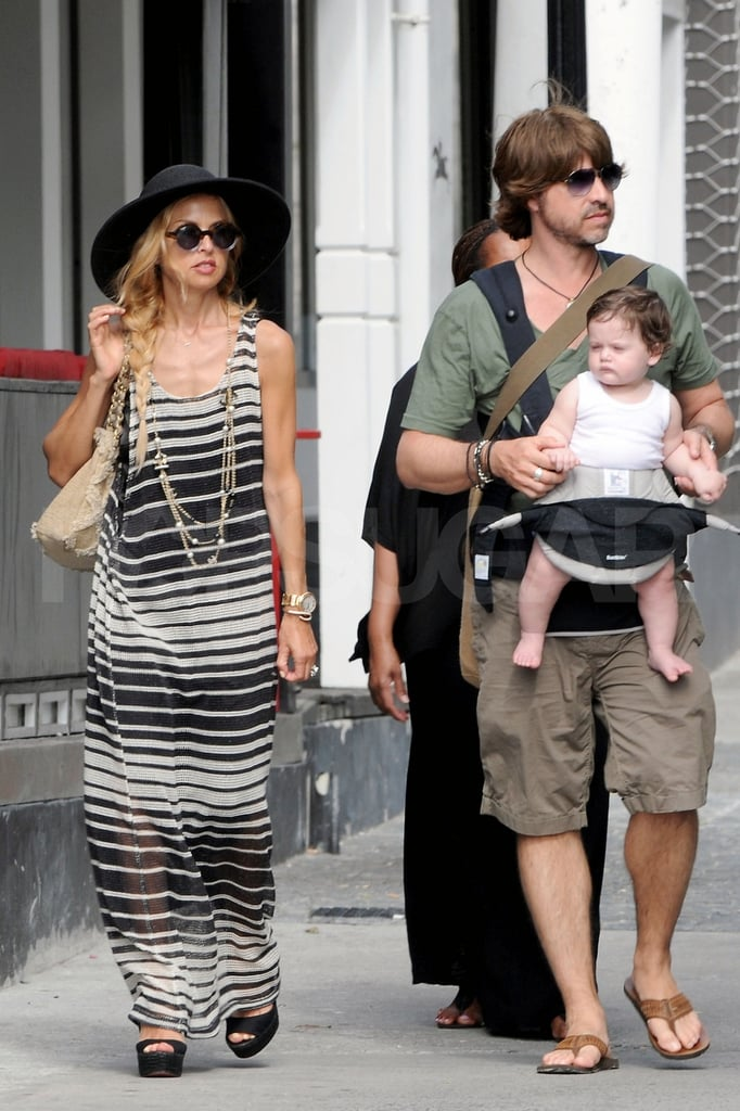 Rachel Zoe ventured into a town in St. Barts with husband Rodger Berman and their son, Skyler Berman.