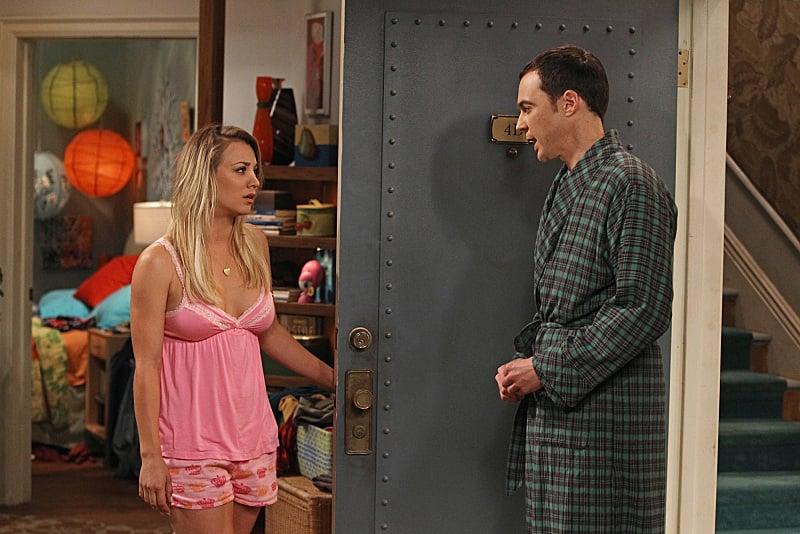 The Big Bang Theory Kaley Cuoco and Jim Parsons on The Big Bang Theory.