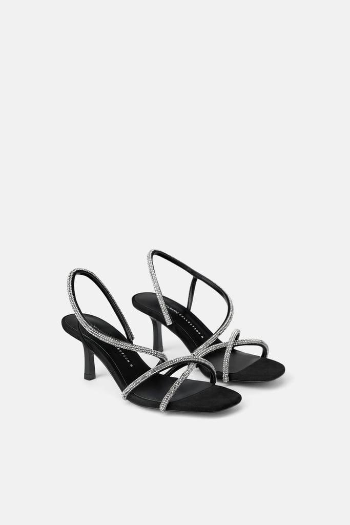 Zara Bejeweled Heels