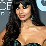 Jameela Jamil With Curtain Bangs