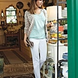 "Garance got down to the heart of this campaign: ""It's really about the spirit of the Parisian girl."" Sunday Cardi ($69), Rainbow V-Neck Top ($25), and Renee Vintage Straight Pants ($50) Source: Macy's"