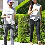 Shia LaBeouf and Karolyn Pho were all smiles and laughs on their sunny stroll around LA.