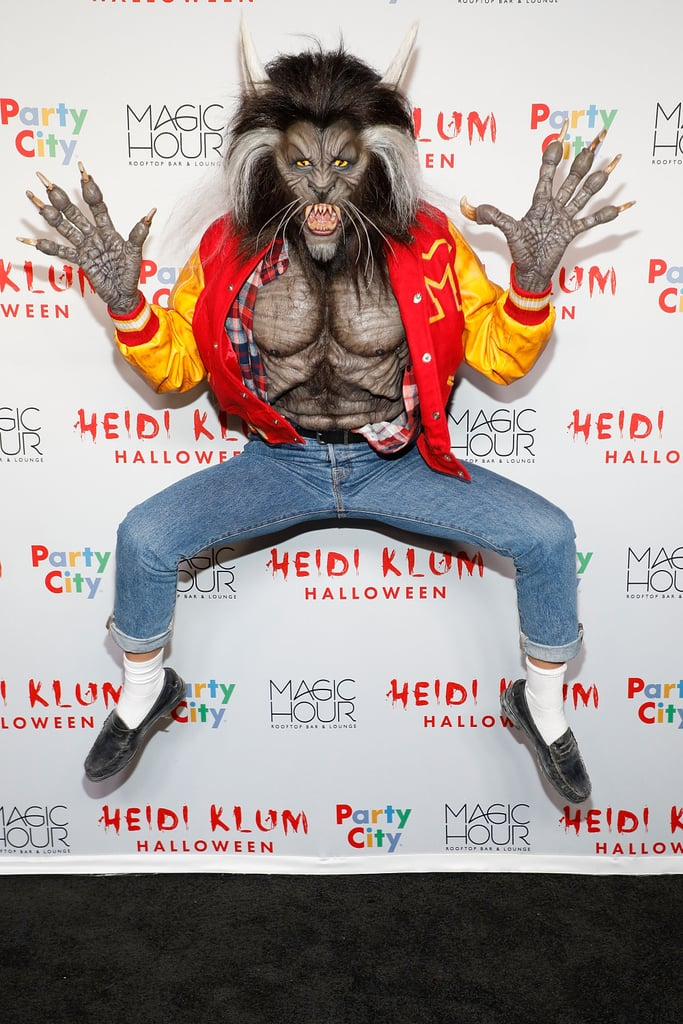 "While the midnight hour was close at hand on Tuesday night, Heidi Klum stole the spotlight with her annual Halloween party. The model has put together some crazy costumes over the years, but this time, she chose to pay homage to the one and only Michael Jackson by channeling his ""Thriller"" music video. Aside from donning a letterman jacket and a spooky mask, she also had her own posse of zombies. We hope the guests at her party had the soul for getting down."