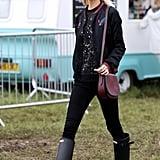 Poppy Delevingne at Glastonbury 2016