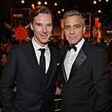 Benedict Cumberbatch and George Clooney posed together during the event.
