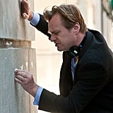 Director Christopher Nolan on the set of The Dark Knight Rises.