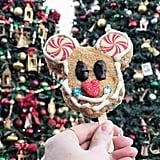 You can get a holiday Mickey Mouse crisped rice treat.
