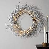 LampLust Pre-Lit Flocked Snow Wreath