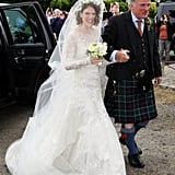 Rose wore a £15K wedding dress.