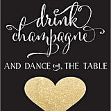 Cocktail Table Sign