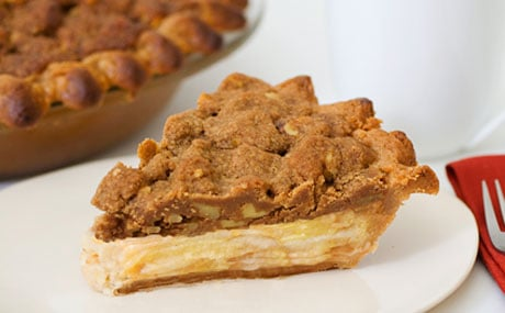 Sour Cream Apple Walnut Pie