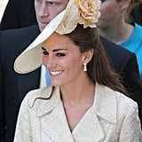 Kate wore cream Gina Foster for Zara's wedding in 2011.