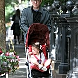 Matthew Broderick pushed Tabitha Broderick in a stroller around NYC.