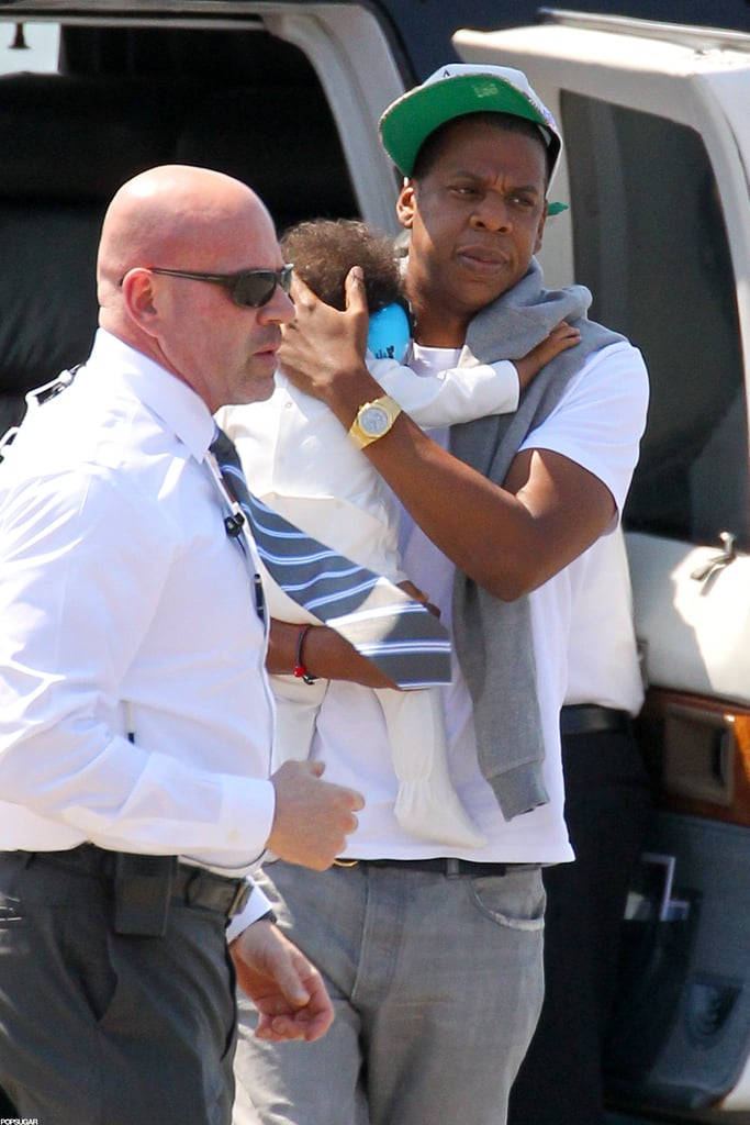 Jay-Z with baby Blue.