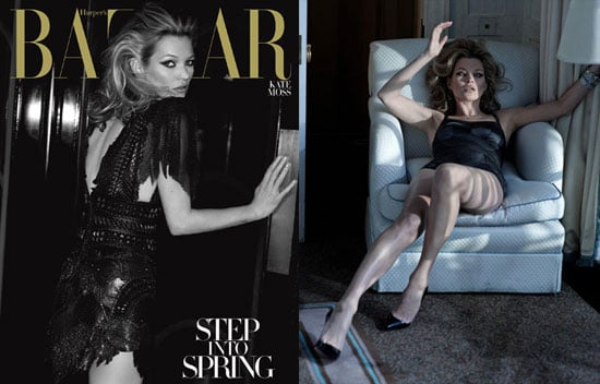 Photos of Kate Moss on the Cover of the March Issue of Harper's Bazaar Magazine