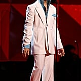 On stage at the 49th annual Grammy Awards in 2007.