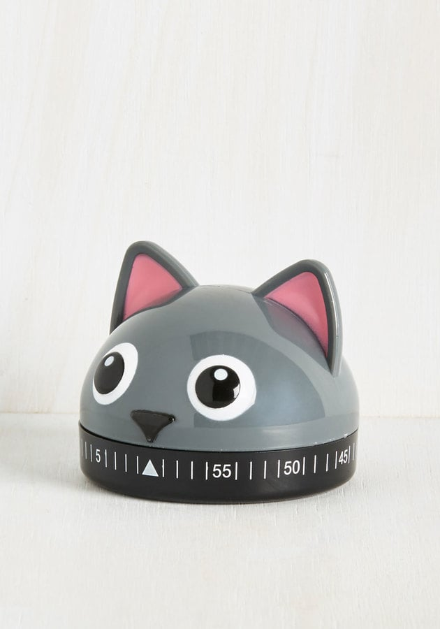 Kikkerland It's a Done Meal Kitchen Timer in Kitty ($10)