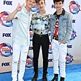 Jacob Sartorius, Johnny Orlando, and Hayden Summerall at the Teen Choice Awards 2019