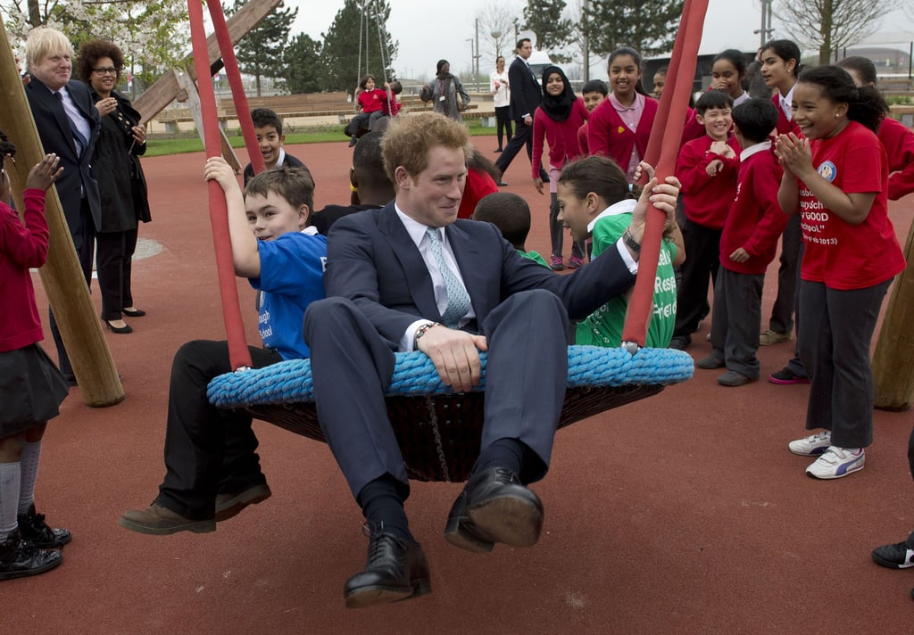 Prince Harry At Queen Elizabeth Park Playground  Pictures -7861
