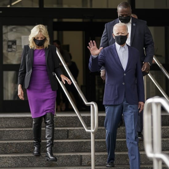 "Jill Biden Wears ""Vote"" Stuart Weitzman Boots to the Polls"